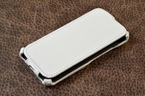 Кожаный чехол для iPhone 6 Белый ящер
