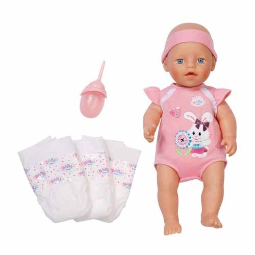 Кукла Zapf Creation Baby born с памперсами и бутылочкой
