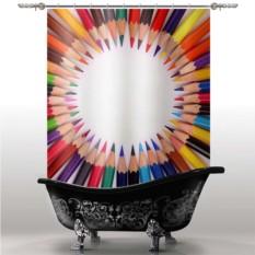 Шторка для ванны Карандаши