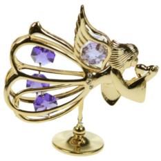 Декоративная фигурка с сиреневыми кристаллами Ангел