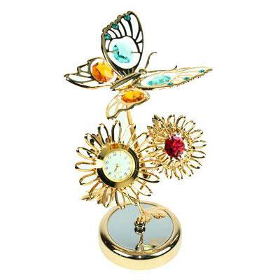 Часы Бабочка на подсолнухе