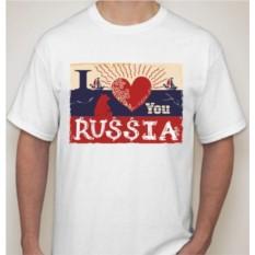 Мужская футболка I love you Russia