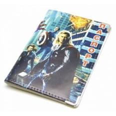 Кожаная обложка на паспорт Мстители