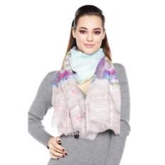 Бежево-голубой женский шарф Mario Spado