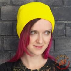 Желтая шапка бини