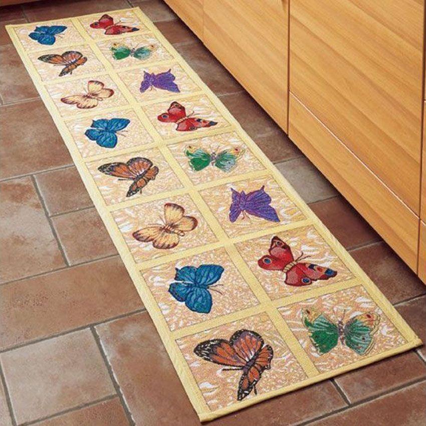 Кухонный коврик Бабочки