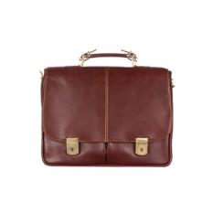 Коричневый мужской кожаный портфель Giorgio Ferretti