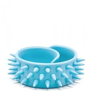 Slap-браслет с шипами (аквамарин)