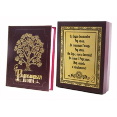 Родословная книга в футляре с накладкой Изысканная