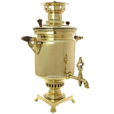 Угольный самовар 5 литров (желтый цилиндр) Кольчугино