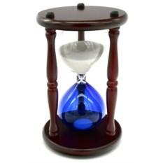 Песочные деревянные часы с разноцветной колбой (30 минут)