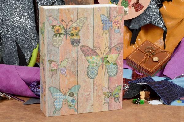 Шкатулка-фолиант Бабочки с кодовым замком