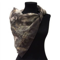Темно-серый платок с узорами Gianfranco Ferre