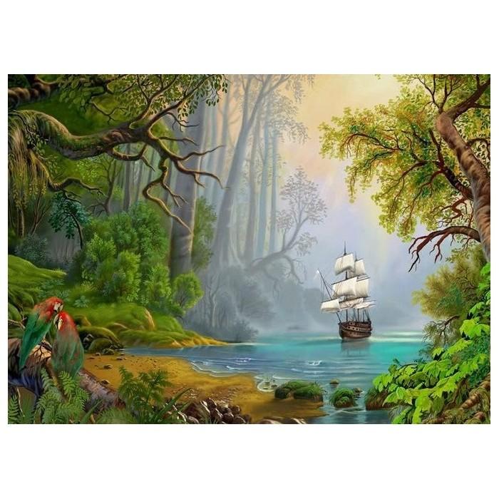 Картина-раскраска по номерам на холсте Бухта