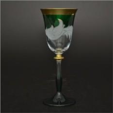 Набор бокалов для вина Волна зеленая
