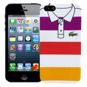 Чехол для iPhone 5 Purple, red, yellow stripes