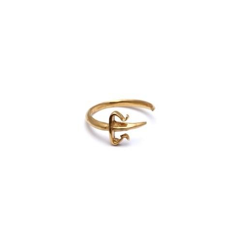 Позолоченное кольцо на верхнюю фалангу Dagger Pinky