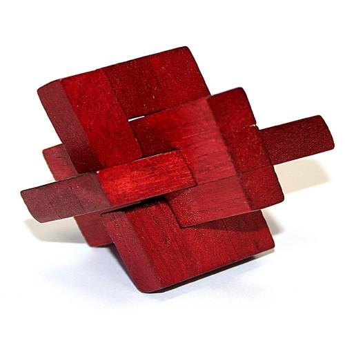 Головоломка деревянная в картонной коробочке
