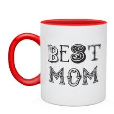 Двухцветная кружка Лучшая мама