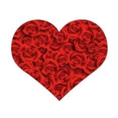 Подушка Сердце с розами