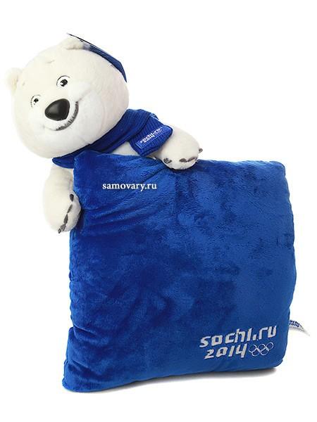 Мягкий сувенир Сочи 2014 Белый мишка с шарфом