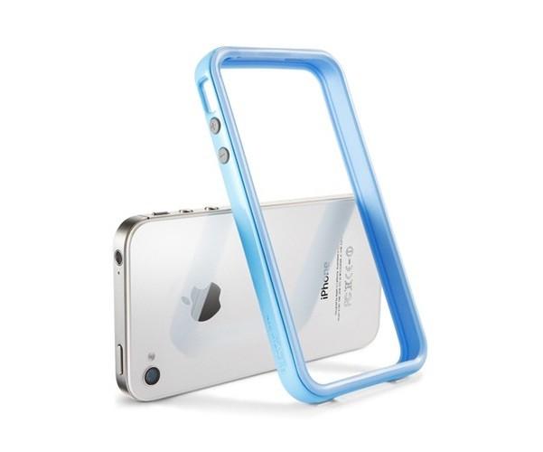 Бампер SGP Neo Hybrid 2S Pastel Series для iPhone 4S/4 + 2 пленки, голубой