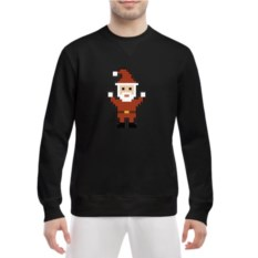Мужской свитшот Pixel Santa