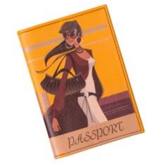 Обложка для паспорта Путешествия. Девушка