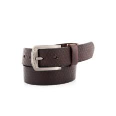 Темно-коричневый мужской кожаный ремень G.Ferretti тип 35-7