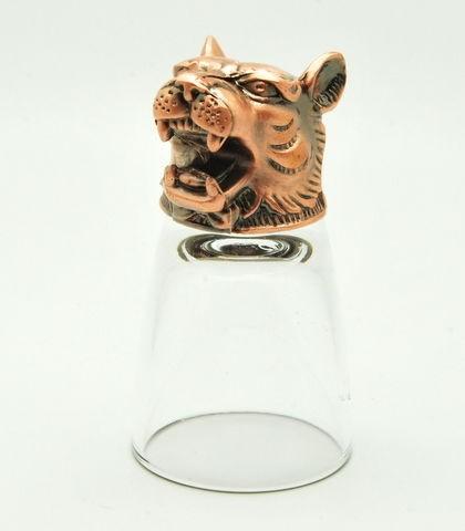 Бронзовая рюмка-перевертыш Тигр