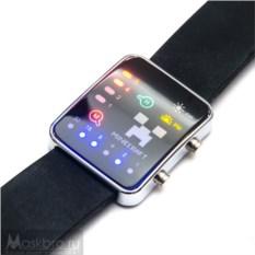 Наручные бинарные часы Майнкрафт (black)