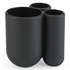Черная подставка для зубных щеток Touch