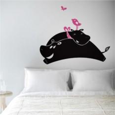 Интерьерные наклейки Влюбленные бегемоты