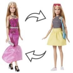 Кукла Barbie Mattel в платье-трансформере