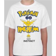Детская именная футболка Pokemon go team instinct