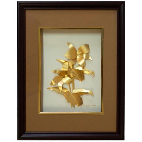 Картина из золота «Лилия»