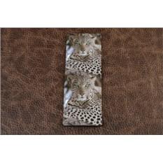 Визитница из кожи Зеленоглазый леопард, FELIZ.