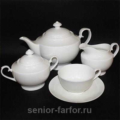 Чайный сервиз Glance (Bianco) на 6 персон