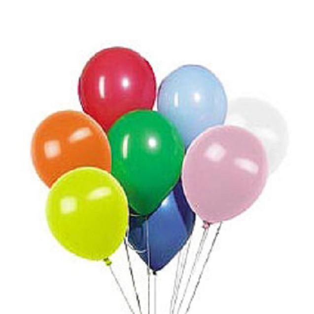 Воздушные шары с гелием (100 штук)