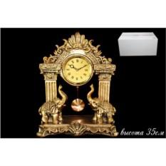 Декоративные настольные часы с фигурками слонов