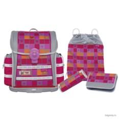 Серо-розовый школьный ранец McNeill Ergo Light