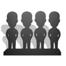 Статуэтка эксклюзивная по фото (4 человека)