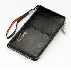 Мужское черное портмоне Baellerry Leather