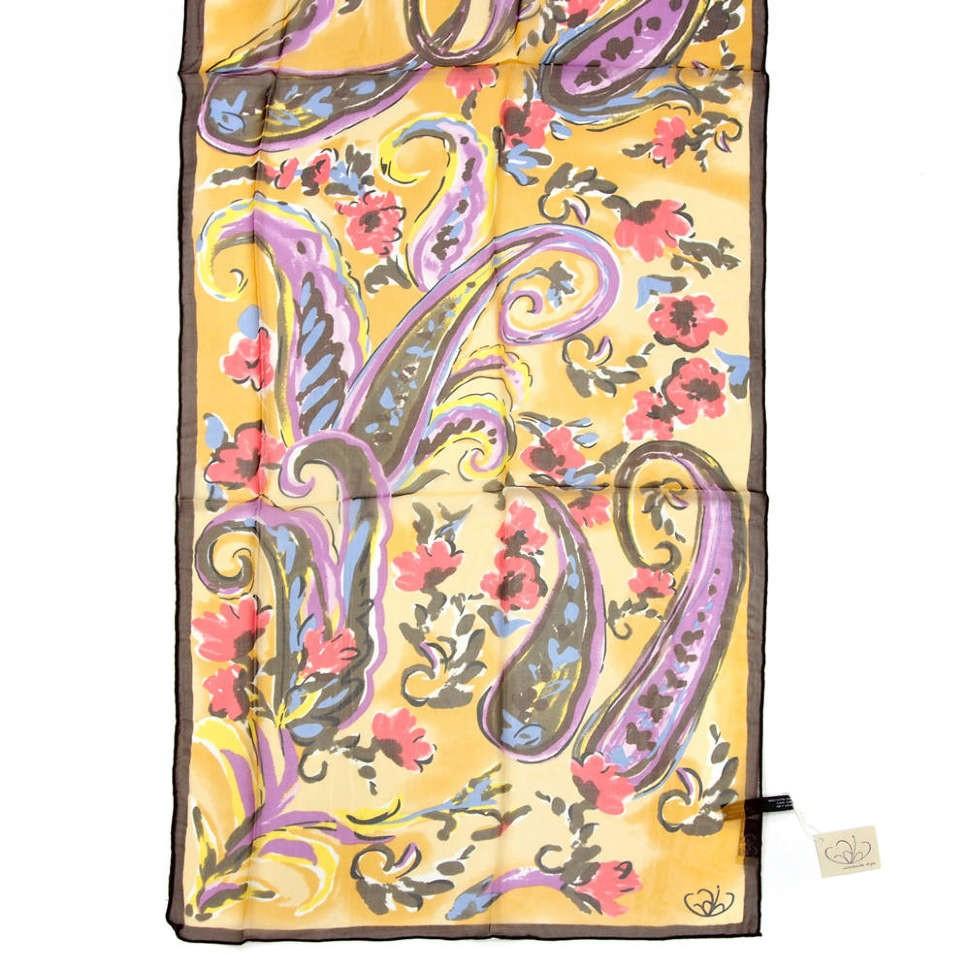 Модный женский шарф с цветами и огурцами Gaia