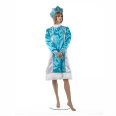 Новогодний костюм Снегурочка с кокошником