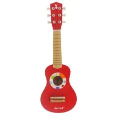Красная игрушечная гитара