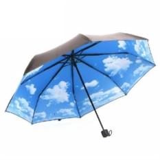 Складной зонт Небо с облаками