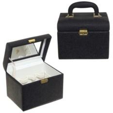 Черная шкатулка для парфюмерии и косметики