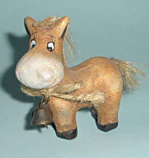 Фигурка лошади Символ года 2014 (ручная работа)