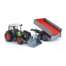 Трактор с погрузчиком и прицепом Claas Nectis 267 F
